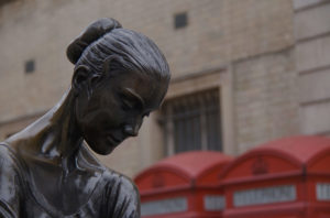 Statue of a ballerina in London